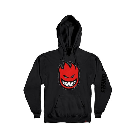 Spitfire Youth Sweatshirt Hoodie Bighead Fill Black Red-50-50 Skate Shop