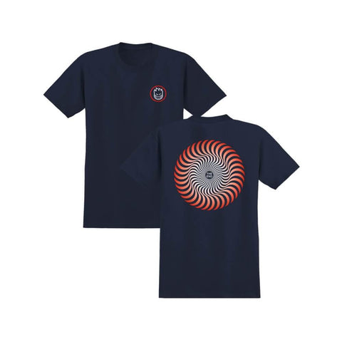 Spitfire Youth Tee Classic Swirl Fade Navy Red-50-50 Skate Shop