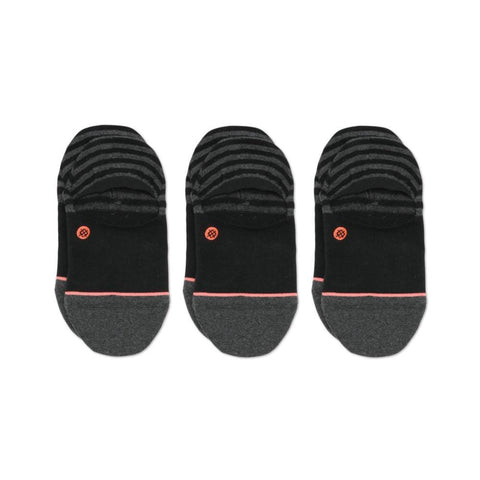 Stance Womens Invisible Socks 3 Pack Black-50-50 Skate Shop