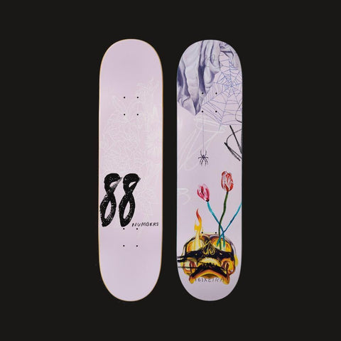 "Numbers Edition Skateboard Deck Teixeira Edition 5 7.875"" x 31.338"" - 50-50 Skate Shop"