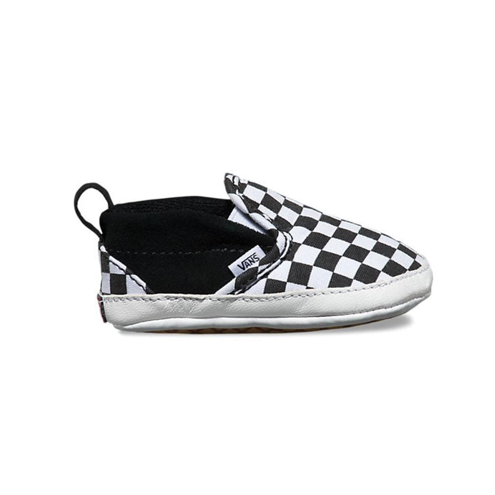 Vans Slip On V Crib Checker Black True White-50-50 Skate Shop