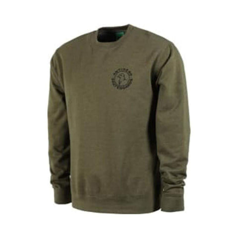 Anti Hero Crewneck Basic Pigeon Round Logo Army Green - 50-50 Skate Shop