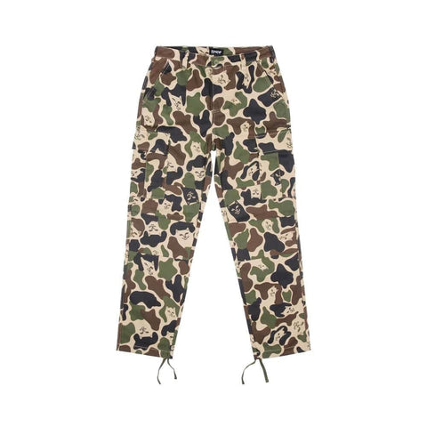 Ripndip Nermal Camo Cargo Pants Army Green - 50-50 Skate Shop