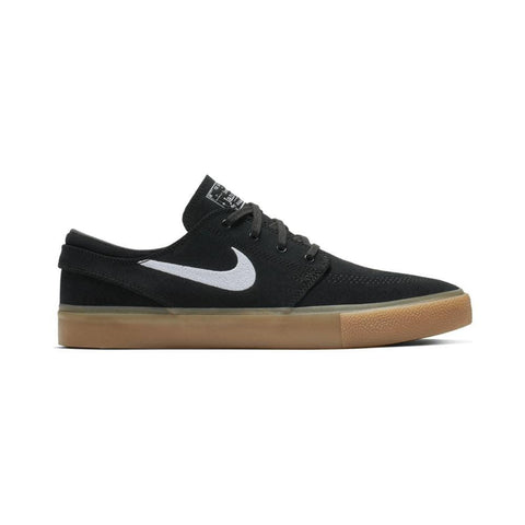 Nike SB Zoom Janoski Remastered Black White Black Gum Light Brown-50-50 Skate Shop