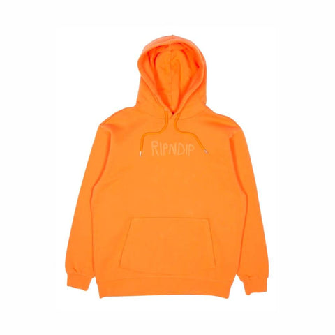 Ripndip Rubber Logo Hoodie Orange-50-50 Skate Shop