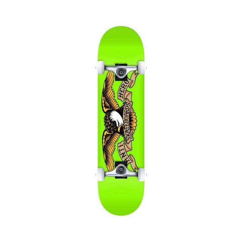 "Anti Hero Skateboard Complete Classic Eagle 8.0"" x 31.5"" Green - 50-50 Skate Shop"
