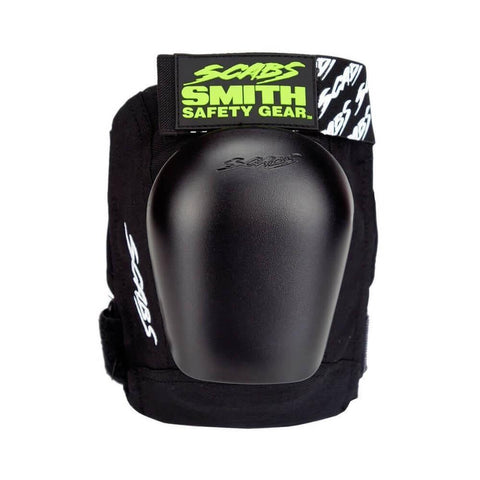 Smith Scabs Junior Skate Pro Knee Pads Black With Black Caps-50-50 Skate Shop