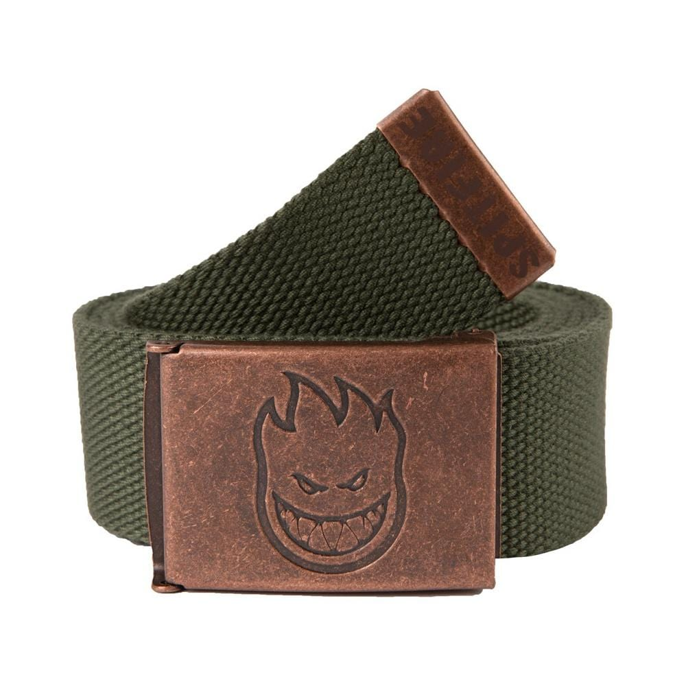 Spitfire Belt Bighead Web Brass Dark Army Green - 50-50 Skate Shop