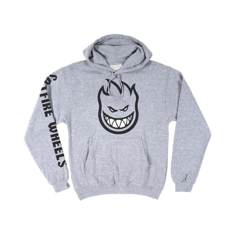 Spitfire Youth Sweater Hoodie Bighead Heather Grey Black-50-50 Skate Shop