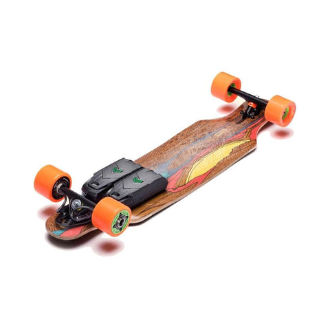 "Unlimited x Loaded Electric Skateboard Complete Icarus Flex 1 8.6"" x 38.4"" with Race Kit-50-50 Skate Shop"