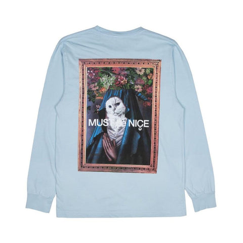 Ripndip Mother Long Sleeve Tee Baby Blue - 50-50 Skate Shop