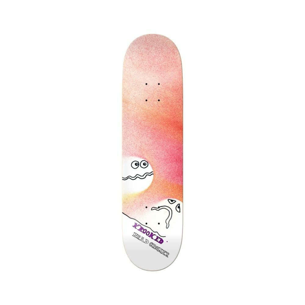 "Krooked Skateboard Deck Spray Cromer 8.38"" x 32.45"" - 50-50 Skate Shop"