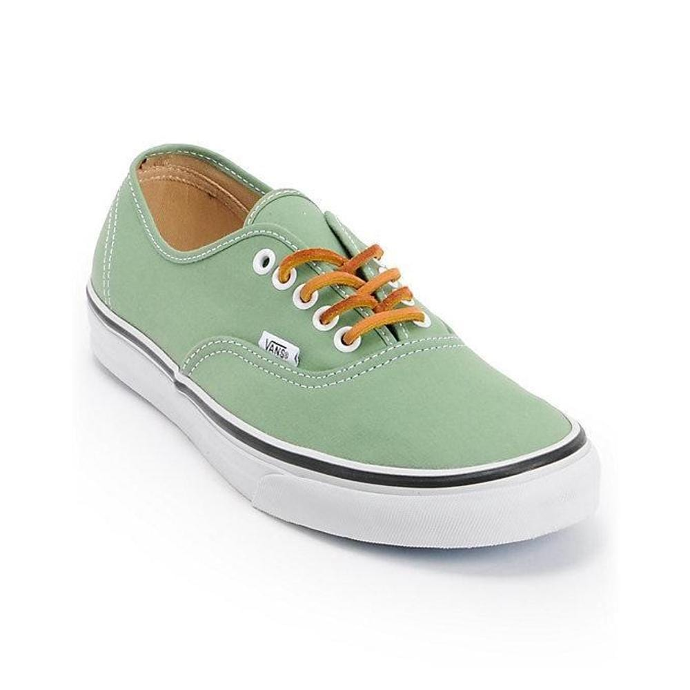 Vans Authentic (Brushed Twill) ShiGrn True White-50-50 Skate Shop