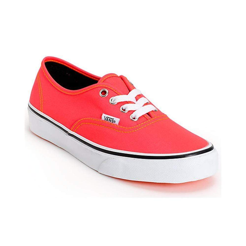 Vans Authentic (Neon) Red Orange-50-50 Skate Shop