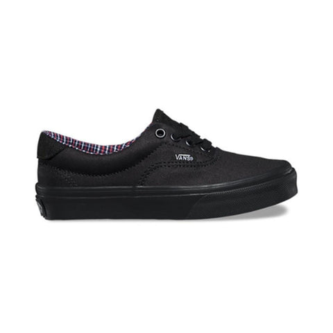 d399f5539141a3 Vans Kids Era 59 (Cord   Plaid) Black Black-50-50 Skate