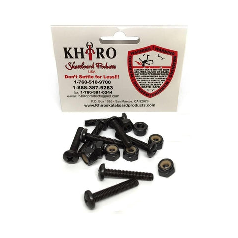 Khiro Panhead Skateboard Deck Bolts & Nuts 1 1/8 Inch-50-50 Skate Shop