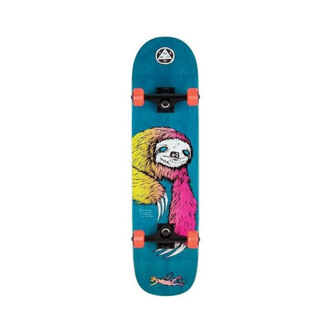 "Welcome Skateboard Complete Sloth 8.0"" x 31.1"" Blue"