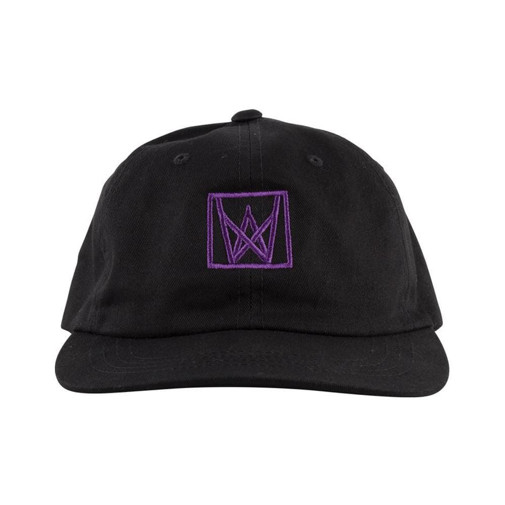 Welcome Icon Unstructured Snapback Black Purple-50-50 Skate Shop