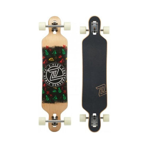 Z Flex Skateboard Cruiser Complete Longboard Skateboard Drop Thru Island Time-50-50 Skate Shop
