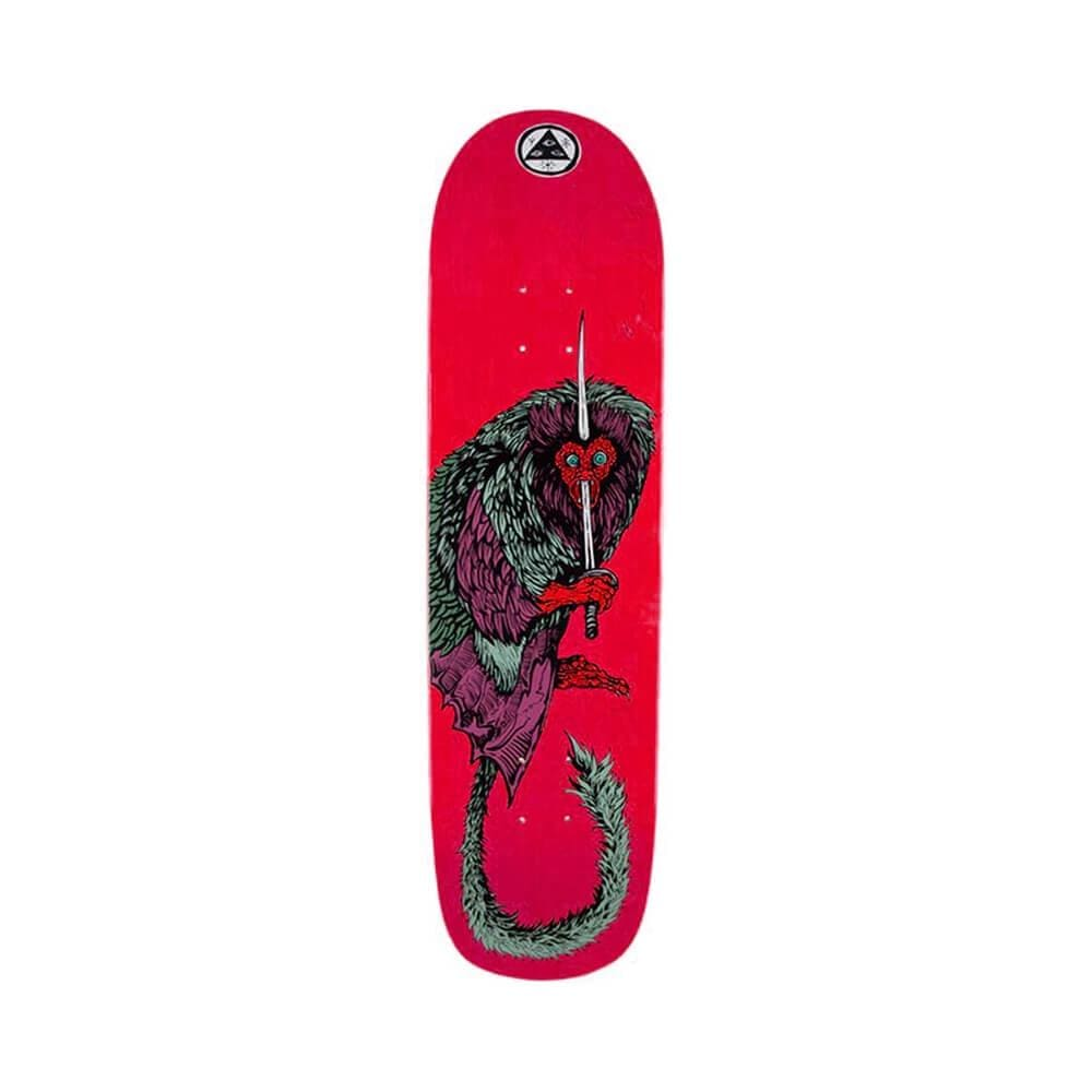 "Welcome Skateboard Deck Tamarin On Son Of Planchette 8.38"" x 32"" Red-50-50 Skate Shop"