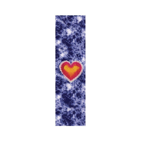 "Grizzly Skateboard Griptape Heart Blue Tie Dye 9"" x 33"" - 50-50 Skate Shop"