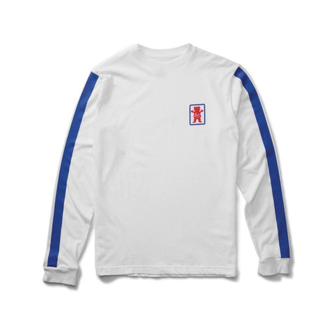 ES X Grizzly Racquet Long Sleeve Tee White - 50-50 Skate Shop