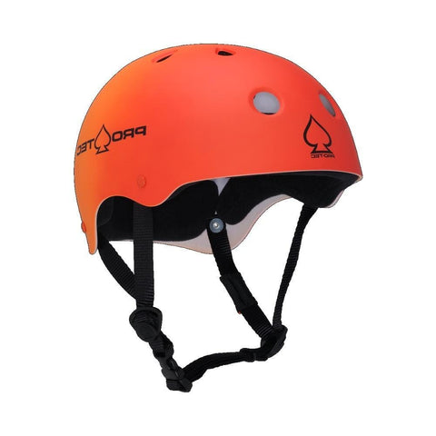 Pro Tec Classic Skate Helmet Red Orange Fade