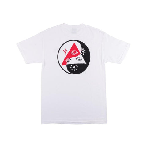 Welcome Balance Tee - White/Black/Red-50-50 Skate Shop