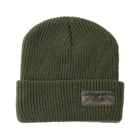 Anti hero Beanie Stock Eagle Lable Olive-50-50 Skate Shop