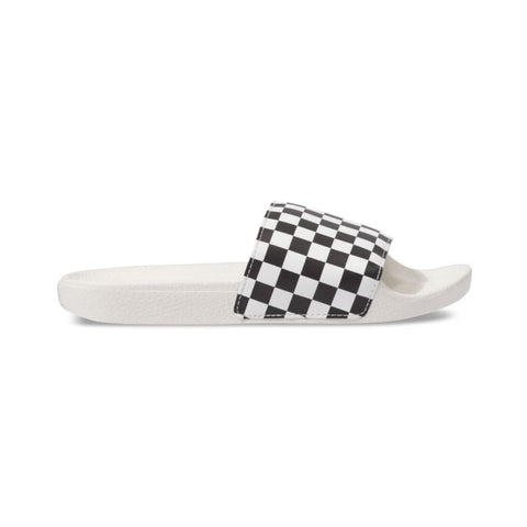 Vans Womens Slide On (Checkerboard) White Black-50-50 Skate Shop
