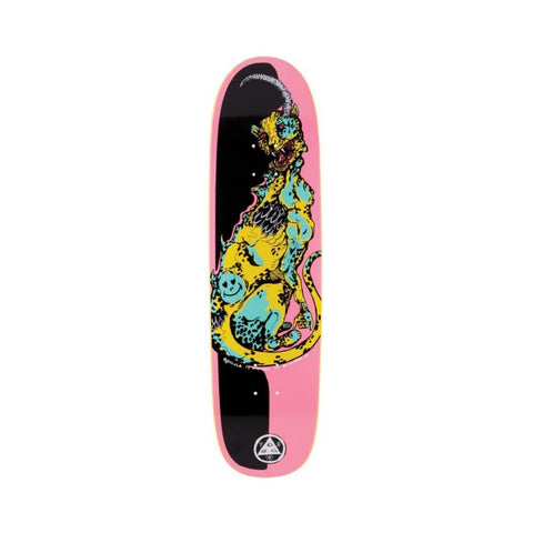 "Welcome Skateboard Deck Cheetah On Slyphstick 8.38"" x 31.89"" Pink Black-50-50 Skate Shop"