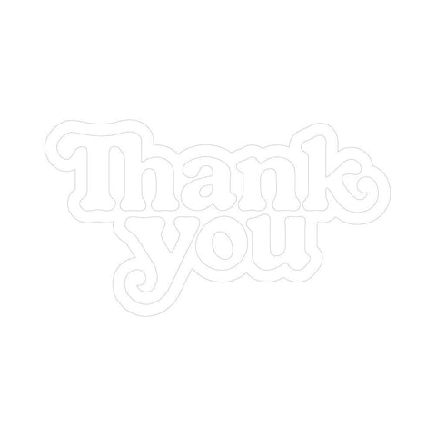 Thank You Skate Sticker Logo Single Sticker - 50-50 Skate Shop