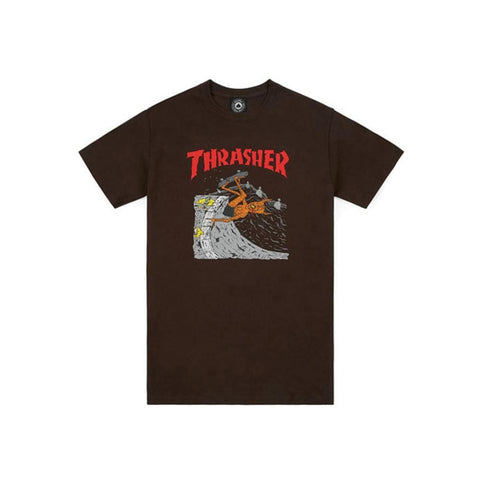 Thrasher Neckface Invert Short Sleeve Tee Brown-50-50 Skate Shop