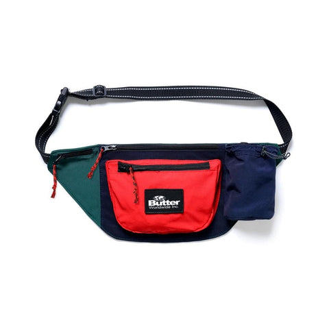 Butter Goods Santosuosso Utility Bag Navy Red Green - 50-50 Skate Shop