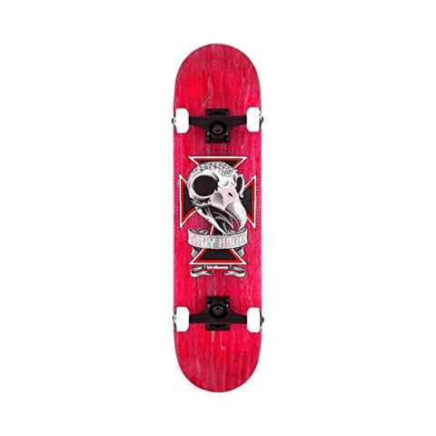 "Birdhouse Skateboard Complete Level 3 Skull 2 8.125"" Red - 50-50 Skate Shop"