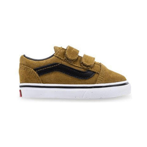 Vans Toddler Old Skool V (Suede) Cumin Black - 50-50 Skate Shop