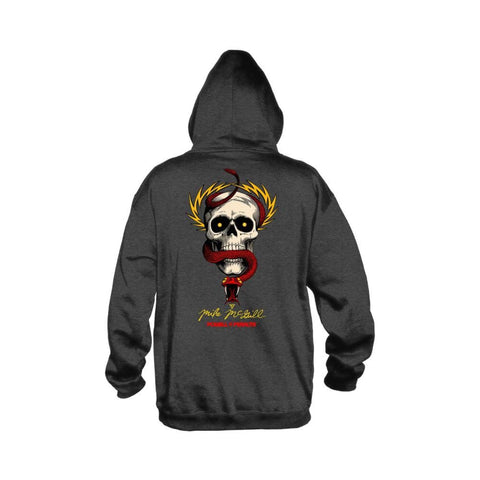 Powell Peralta Hoodie McGill Skull And Snake Charcoal - 50-50 Skate Shop