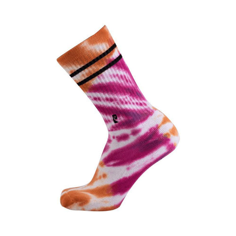 Psockadelic Tie Dye Socks Orange Pink-50-50 Skate Shop