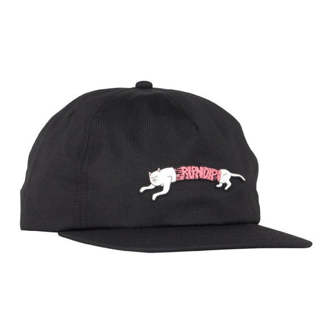 Ripndip Zipperface 6 Panel Strap Back Black-50-50 Skate Shop