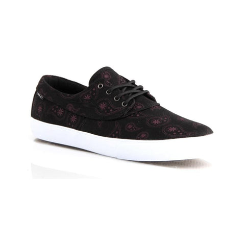 Lakai Camby Black Paisley Canvas - 50-50 Skate Shop