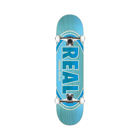 "Real Skateboard Complete Duofade Oval 8.5"" Blue Green-50-50 Skate Shop"