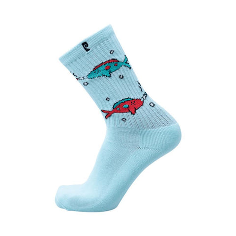 Psockadelic Socks Dickson Blue Single Pair-50-50 Skate Shop