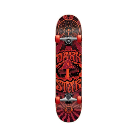 "Darkstar Skateboard Complete Trippy FP 8.0"" FULL Red-50-50 Skate Shop"