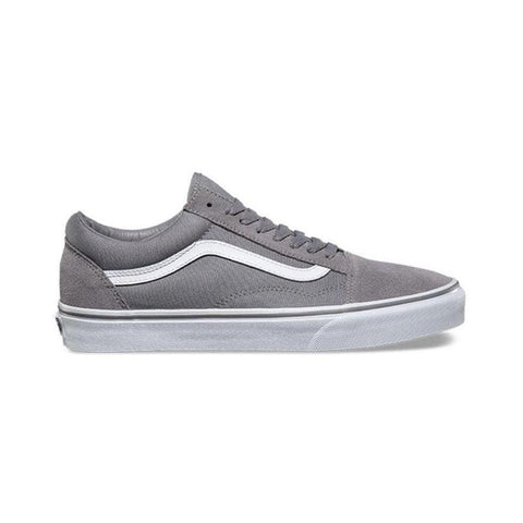 Vans Old Skool Suede Canvas Frost Grey True White - 50-50 Skate Shop