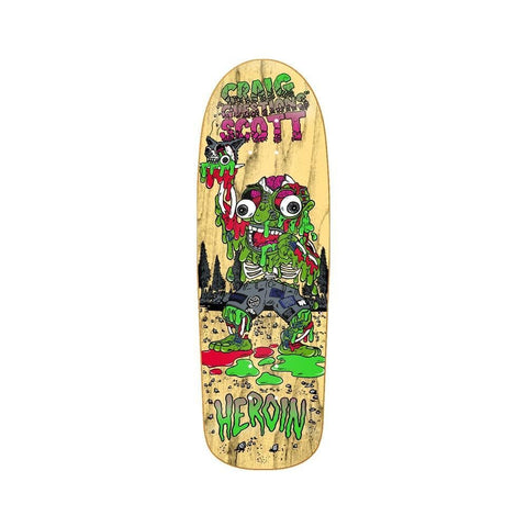 "Heroin Skateboard Deck Craig Questions Big Guy 10.0"" x 32.25""-50-50 Skate Shop"