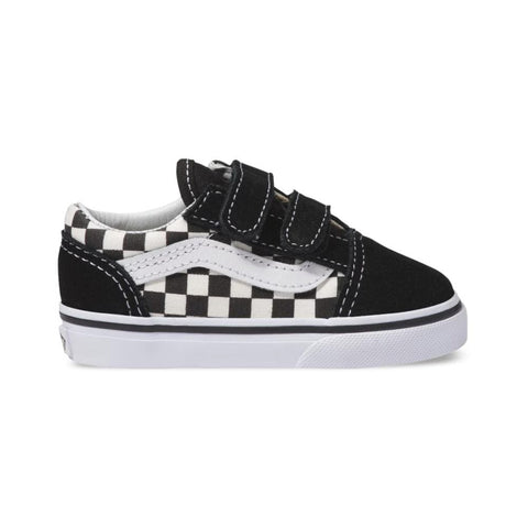 Vans Toddlers Old Skool V (Primary Check) Black White - 50-50 Skate Shop