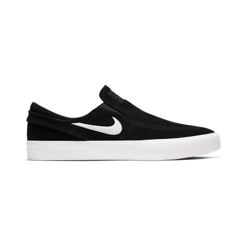 Nike SB Zoom Stefan Janoski Slip On Remastered Black White-50-50 Skate Shop
