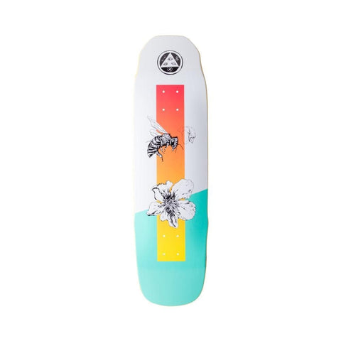 "Welcome Adaptation on Sledgehanner Skateboard Deck White Teal 9.0""-50-50 Skate Shop"