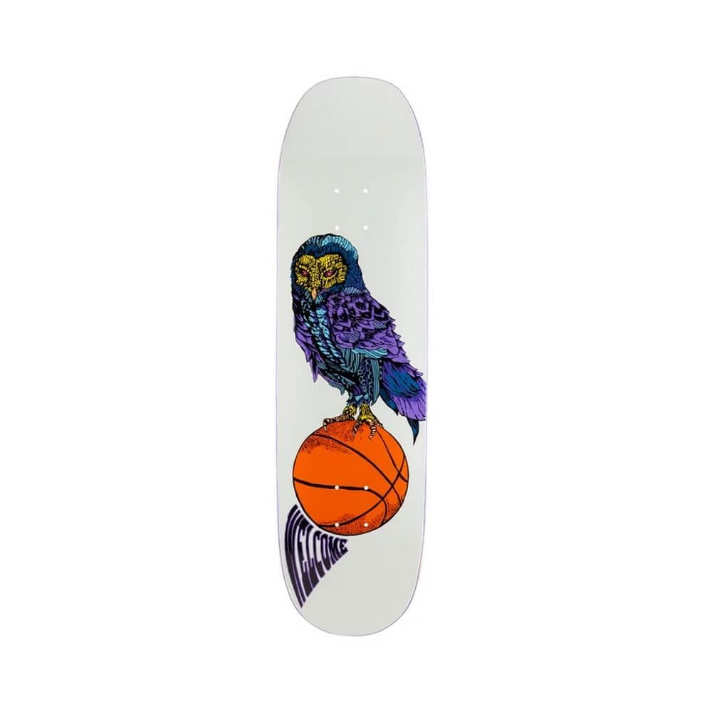"Welcome Skateboard Deck Hooter Shooter On Moontrimmer 2.0"" 8.5"" x 32.25"" Bone White 14.6"" WB - 50-50 Skate Shop"