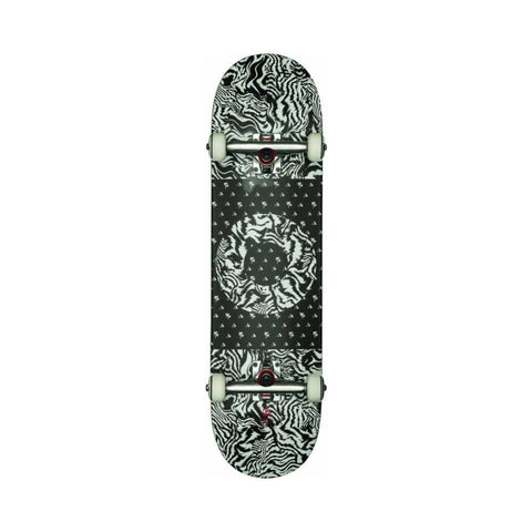"Globe Skateboard Complete G1 O-Negative 8.25"" FULL Black/White/Tailspin-50-50 Skate Shop"